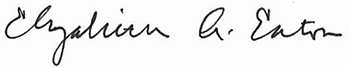 BIshop Eaton signature