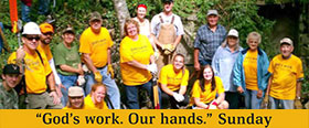 """God's work. Our hands."" Sunday"