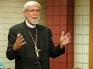 ELCA Presiding Bishop Mark S. Hanson at a Town Hall Forum in 2010
