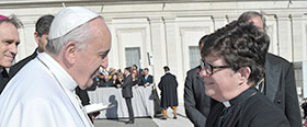 Bishop Eaton met with religious leaders in London, Geneva and Rome.