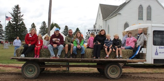 Sowing seeds-hayride