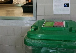 Cafeteria composting closes circle